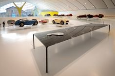 6m Surface Table at Enzo Ferarri Museum, Modena, Italy  Terence Woodgate and John Barnard (Established & Sons)