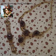Vintage inspiration in Ruby and Gold necklace by OoaKIndulgence