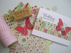 Cards to Keep ........  Bright Birthday Wishes ~ Handmade Greeting Card