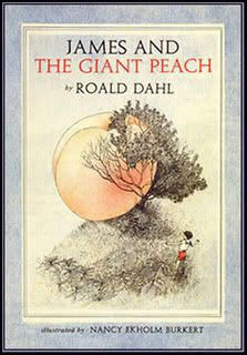 James and the Giant Peach by Roald Dahl. This is the cover I want. No offence, Quentin Blake.