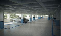 Garagem edifício Tito19 - Oficina da Construção - arejada e ventilada, sem tubulação aparente!