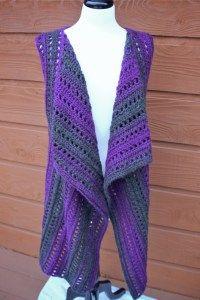 Brandywine Falls Vest crochet pattern