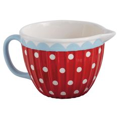 Product: Batter bowlConstruction Material: CeramicColor: Red, white and blueFeatures: One handleDimensions: H x DiameterCleaning and Care: Hand wash with mild soap. Not microwave or dishwasher safe. Kitchenware, Tableware, Mixing Bowls, Mild Soap, Joss And Main, Homemaking, Dinnerware, Decorative Bowls, Tea Pots