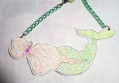 illustrazione sirena collana lunga disegnata a mano  https://www.facebook.com/izabelplatz/