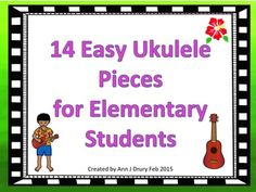 Ideal for the music classroom, these easy to follow charts are for projecting onto your Smartboard or whiteboard. This product contains 14 easy songs for students to sing as they learn to play the ukulele. This product comprises: 1 song that uses one chord 8 songs with two chords and 5 songs that use three chords.