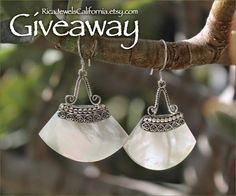 Jewelry #Giveaway! Enter to #win Mother of Pearl earrings from @ricajewelsca by 11:59pm EST on January 10, 2015.