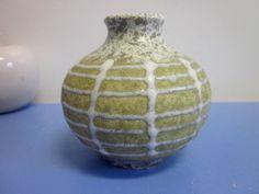 Jasba 1122 Vase German WGP lava glaze orange grün gelb 70s WGP 60er 70er