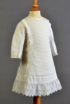 Child's white cotton and eyelet dress, American, 1870s. Collection of the Kent State University Museum, KSUM 1984.26.5.