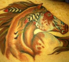 PistolRedAnnie's Horse Tattoo Indian Appaloosa War Pony Pictures | Rank My Tattoos....Looks like my Redcloud!!!