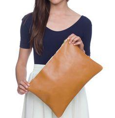 next on my wish list: american apparel leather clutch