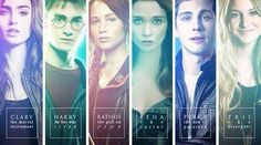 The Mortal Instruments, Harry Potter, The Hunger Games, Percy Jackson, Divergent, Caster Chronicles