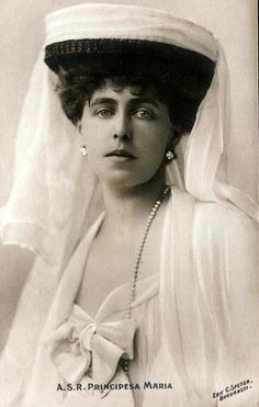 Queen Marie of Romania in yet another of her headdresses. Queen Mary, King Queen, Michael I Of Romania, Romanian Royal Family, Modern English, Casa Real, English Royalty, Royal House, Kaiser
