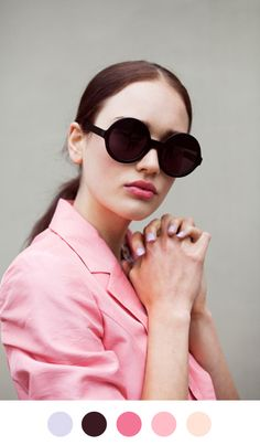 pink and black always looks good together Circle Sunglasses, Round  Sunglasses, Ray Ban Sunglasses 776a091662