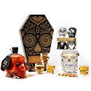 Giant Fire Hot Sauce Skull Gift Set by Thoughtfully A Day of the Dead Designed Coffin Box w/ Sugar Skull Home Decor, Shot Glasses, Salt & Pepper Shakers