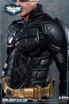 Skórzany kombinezon motocyklisty w stylu Batmana