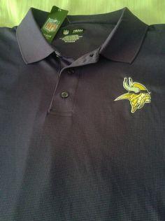 81c92cae4 Minnesota Vikings Purple Football Golf Polo Shirt Men s XXL NFL Official   NFLTeamApparel  MinnesotaVikings-------SOLD!