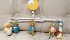 Vintage Beatrix Potter Peter Rabbit Crib Mobile Musical 1976 Eden Baby