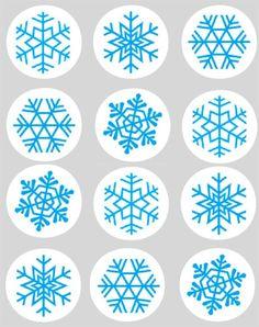 Snowflake Edible Cupcake Toppers (12)