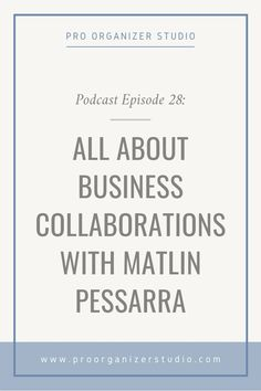 I am super excited to be chatting with Matlin Pessarra of Minimized Professional Organizers in Charlotte, NC. In the two short years that Matlin has been in business, she has grown a massive Instagram following and she has worked with a number of local influencers and celebrities in Charlotte. I have invited her onto the podcast today to talk all about her experiences with business collaborations. Business Organization, Life Organization, Organizing Life, Business Sales, Online Business, Professional Organizers, Blog Categories, Instagram Tips, Amigurumi
