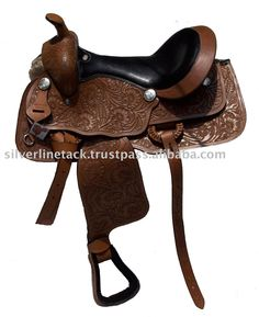 western saddles | Hand Carved Western Saddle Leather Covered Fitting. Photo, Detailed ...