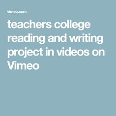 teachers college reading and writing project book lists