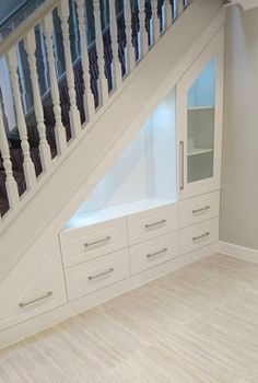 If you are looking for home storage ideas and good exploit for small spaces this article is for you and will give you 20 idea under stairs storage ideas with modern forms useful and practical. Shelves and storage spaces under . Space Under Stairs, Desk Under Stairs, Staircase Storage, Storage Under Stairs, Open Staircase, Staircase Drawers, Under Staircase Ideas, Under Stairs Pantry, Hallway Storage