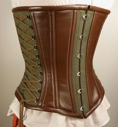 Hemp fantasy corset (angle) by Lilly's Workshop, via Flickr