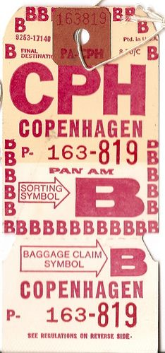 Pan Am - CPH Copenhagen | Flickr - Photo Sharing! Typography Letters, Typography Design, Logo Design, Graphic Design, Lettering, Vintage Luggage Tags, Vintage Labels, Luggage Labels, Vintage Packaging