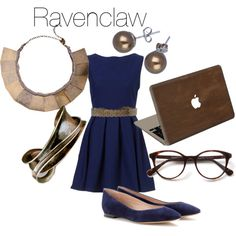 Ravenclaw Work by hilldod90 on Polyvore featuring Chloé, Valentine Goods, Forte Forte, Don't AsK and Roberto Cavalli