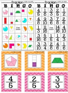 This product offers two different fraction bingo game board versions. Elementary School Counseling, Elementary Math, Math Resources, Math Activities, Leadership Activities, Fraction Bingo, Cooperative Learning, Learning Games, Math Intervention