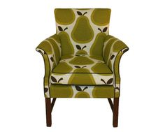 Tipperary – A classic Parker Knoll armchair upholstered in Orla Kiely pear print cotton fabric.