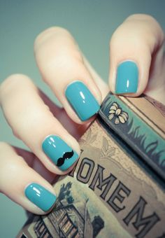 We mustache these nails. Nail art inspiration