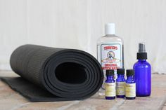 DIY Yoga Mat Cleaning Spray  http://blog.freepeople.com/2012/07/diy-yoga-mat-cleaning-spray/