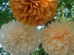 40 Tissue paper Pom Poms Great for wedding baby shower by PomMagic, $120.00