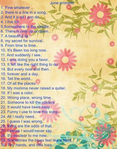 Prompts for journaling!