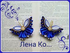 (55) Одноклассники Satin Ribbon Flowers, Ribbon Art, Ribbon Crafts, Fabric Flowers, Bow Art, Kanzashi Tutorial, Kanzashi Flowers, Embroidery Stitches, Hair Bows