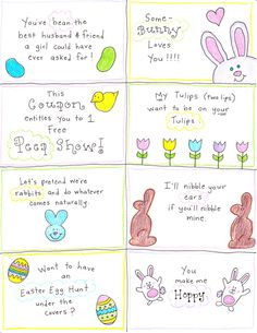 Happy Hubby Easter Cards. Pardon my French ;-)