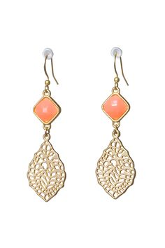 ISLA - Coral Gold tone Leaf Earrings - Shop Simply Me Boutique – Simply Me Boutique