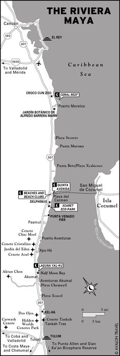 Map of the Riviera Maya