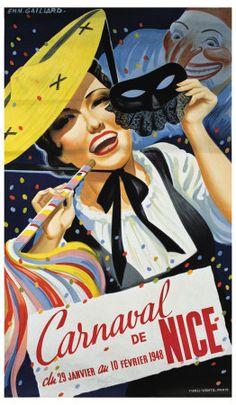 Vintage Travel Posters - Carnaval de Nice -1948.