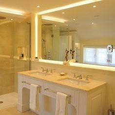 Double vanity unit with marble top Double Vanity Unit, Vanity Units, Handmade Kitchens, Marble Top, Bathroom Furniture, Joinery, Corner Bathtub, Home, Corner Tub