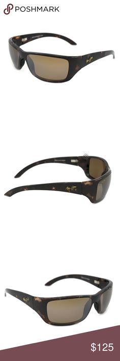 Maui Jim MJ-208-10 Canoes Polarized Sunglasses IN ALMOST PERFECT CONDITION:   From the new 2015 Collection comes the cool Maui Jim Canoes Sunglasses.  Frame Shape : Rectangular, Full Rim, Wrap Frame Style : Sport Frame Material : Plastic Frame Color : Tortoise (brown) Lens Material : Polycarbonate Lens Color : HCL Bronze Polarized : Yes Maui Jim Accessories Glasses