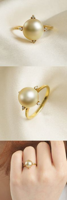 SIMPLE PEARL RING - This is just lovely...