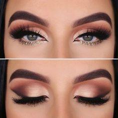 55 Best Eye Makeup Looks – Dramatic Eyeliner, Shadow, Mascara Sexy Eye Makeup, Makeup Eye Looks, Eye Makeup Steps, Beautiful Eye Makeup, Blue Eye Makeup, Eyeshadow Looks, Glam Makeup, Makeup Eyeshadow, Eyeshadow Makeup Tutorial
