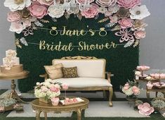 Beautiful Paper Flower Backdrop Wedding Ideas 15 Peonies continue to be a fairly huge deal in wedding world but they generally include a hefty price tag. With only a few basic actions you can also create your own flower origami paper lily. Quince Decorations, Baby Shower Decorations, Wedding Decorations, Table Decorations, Diy Wedding, Dream Wedding, Wedding Ideas, Wedding Hair, Trendy Wedding