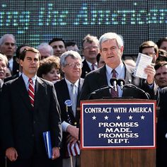 Newt Gingrich says 20 years ago this weekend, Republicans signed the Contract with America, which marked a major realignment for the party The First 100 Days, Newt Gingrich, Happy May, Our Legacy, State Of The Union, American Presidents, Care Plans, Former President, The Republic