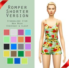 Romper + Slouchy Crop Top + High-Waisted Mini Skirt at Sim4ny via Sims 4 Updates