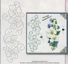 Albumarchief Embroidery Cards, Embroidery Stitches, Embroidery Patterns, Hand Embroidery, Embroidery Dress, Card Patterns, Stitch Patterns, Embroidered Paper, Stitching On Paper