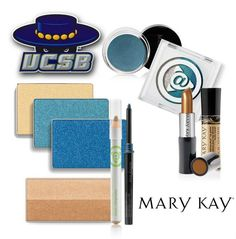 After spending the day at the University of California, Santa Barbara for our Fall Into Your Beauty College Tour, we have to admit - the school spirit rubbed off on us! Achieve the perfect pop of blue with these Mary Kay products. #MKFallBeauty