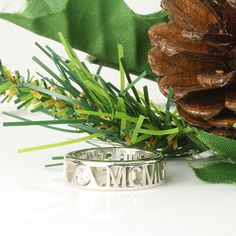"""""""Pierced"""" Roman Numeral Ring in 10k Gold with Diamonds"""